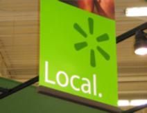 Nothing says local like your neighborhood Wal-Mart